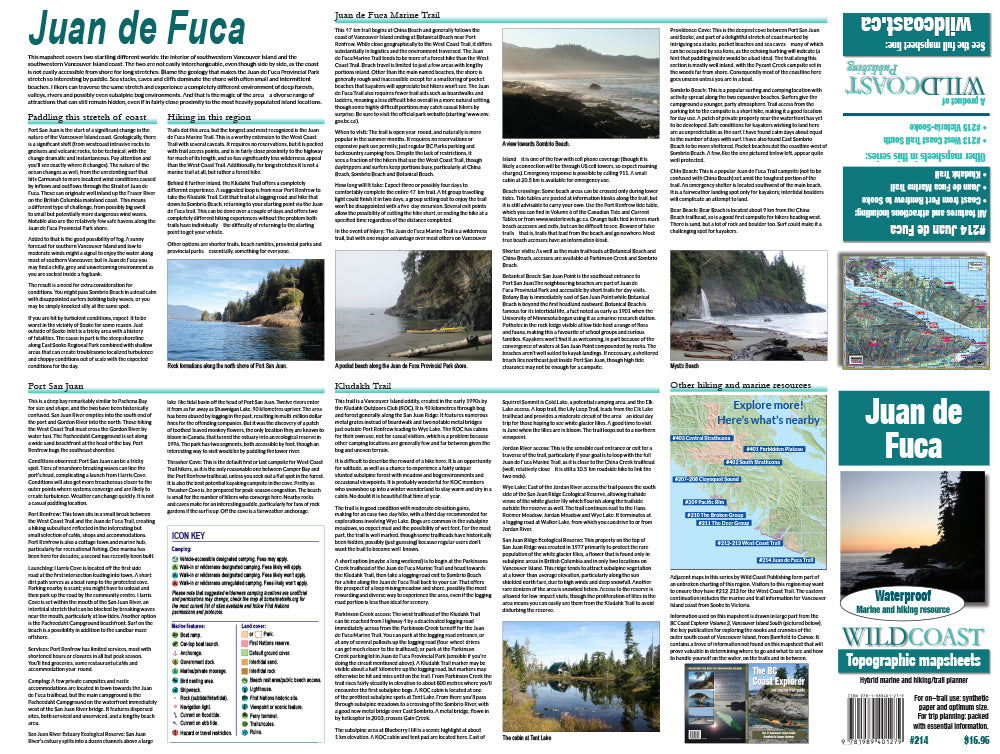 214 Juan de Fuca Trail and Marine Map