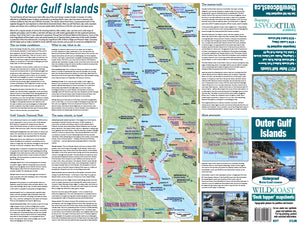 217 Outer Gulf Islands Kayaking and Boating Map