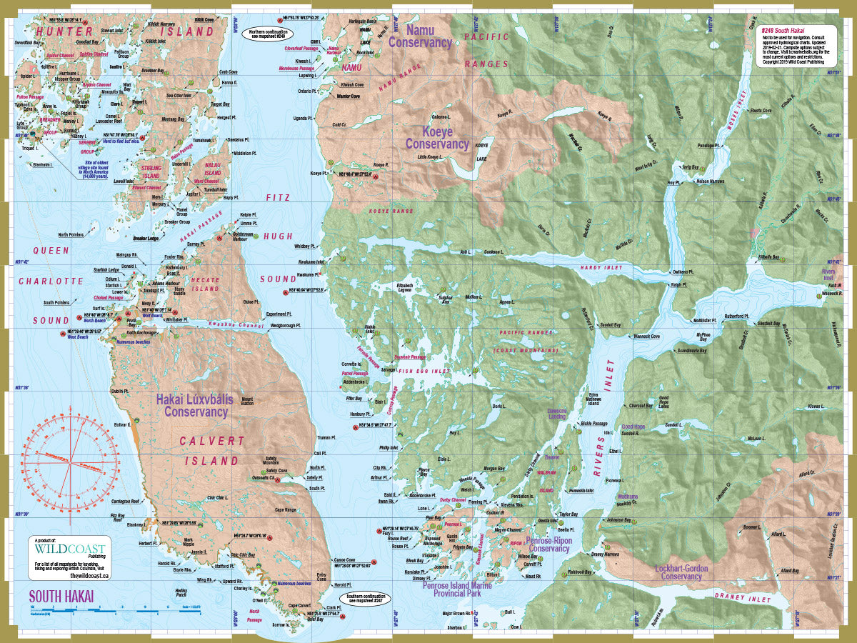 248 South Hakai Kayaking and Boating Map