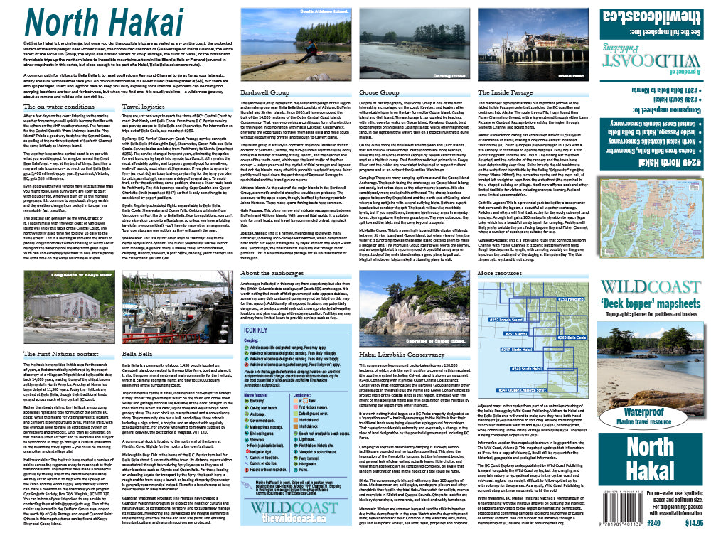249 North Hakai Kayaking and Boating Map