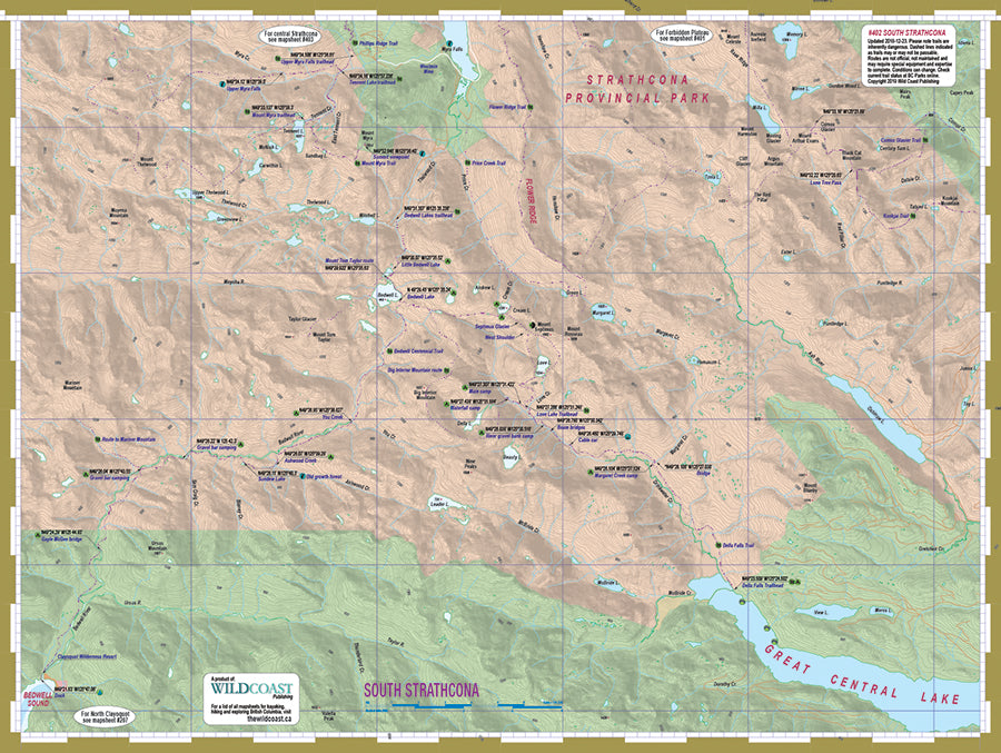 402 South Strathcona Provincial Park Topographic Trail Map