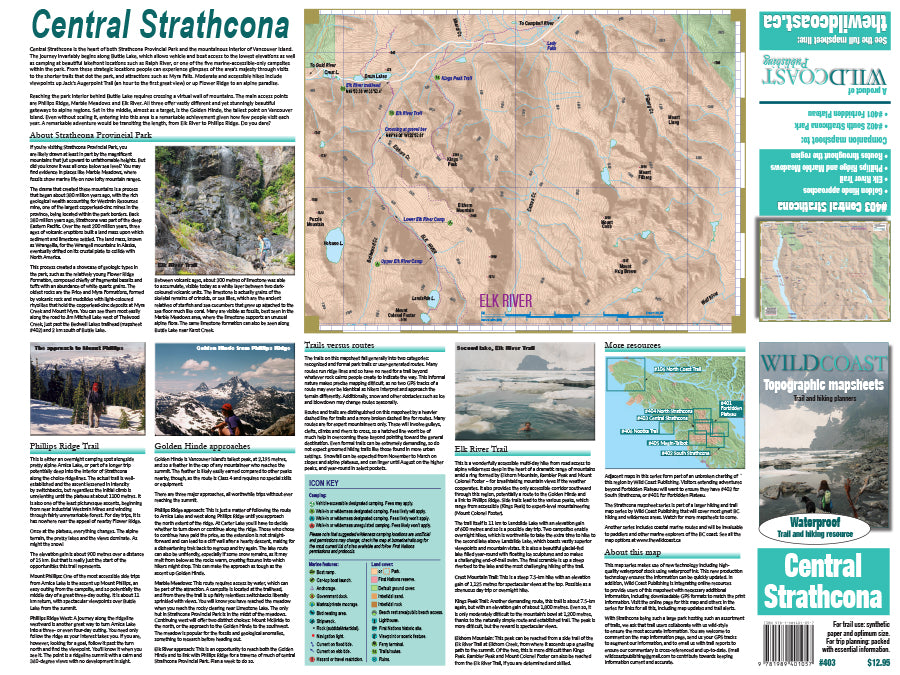 403 Central Strathcona Provincial Park Topographic Trail Map