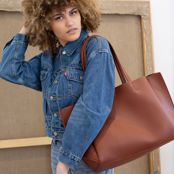 Large Tote – Brick Pebble
