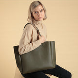 Large Tote - Khaki Pebble