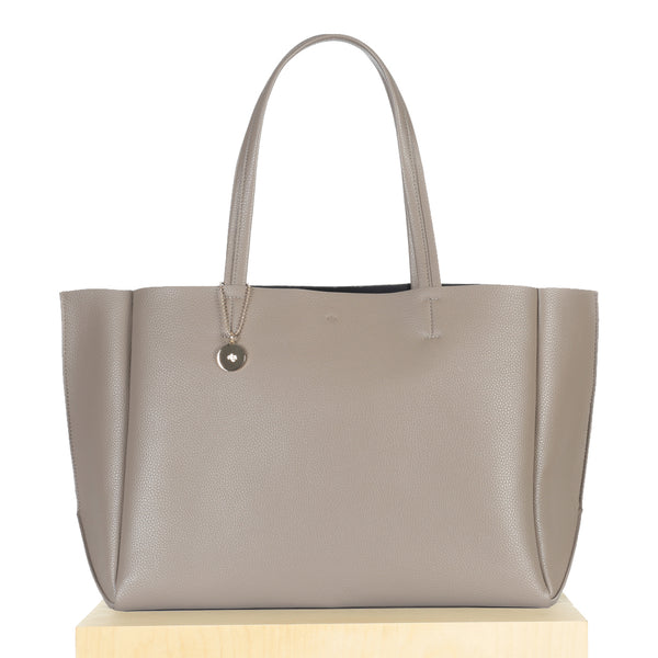 Large Tote - Taupe Pebble