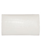 MILCK Clutch – White Croc Effect
