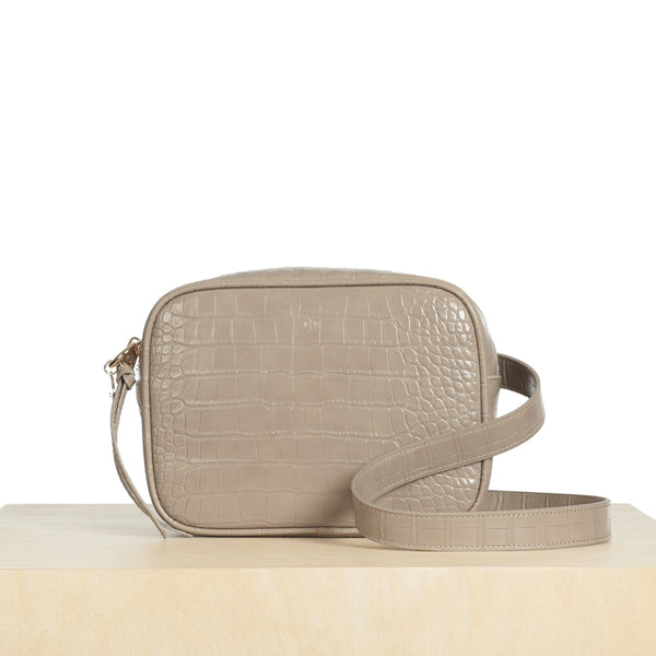 Belt Bag – Taupe Croc