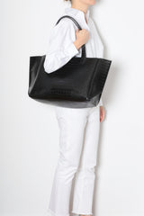 Large Tote – Black Croc Effect