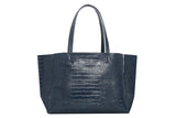 Large Tote – Navy Croc Effect