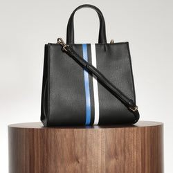 Mini Tote – Black Stripe
