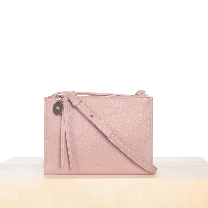 Wallet Crossbody – Rose Pebble