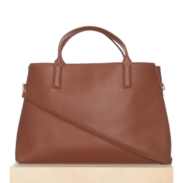 "Workbag - Caramel Pebble fits up to 12"" ipad/ laptop"