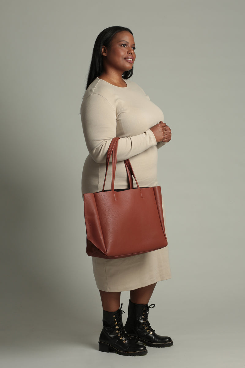 Large Tote – Caramel Pebble