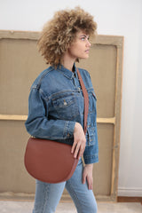 Saddle Bag - Brick Pebble