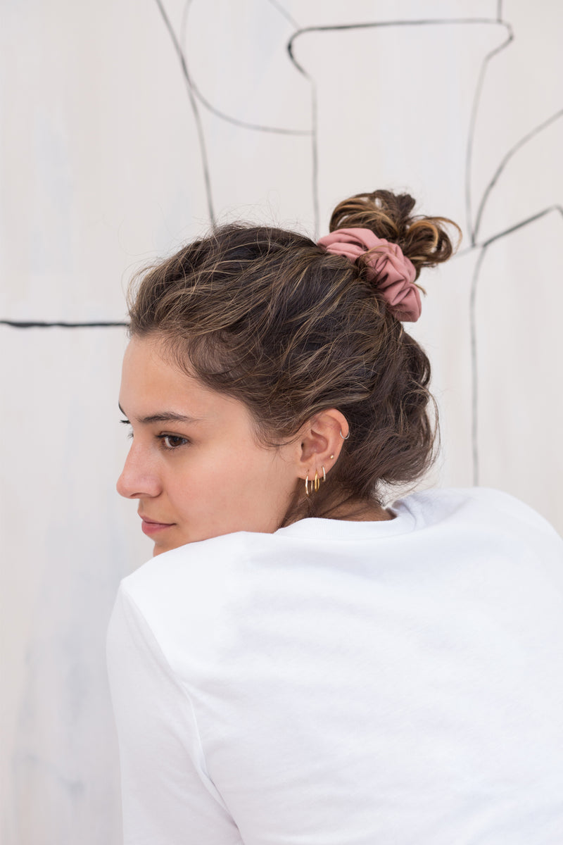 Vegan Leather Scrunchie - Rose