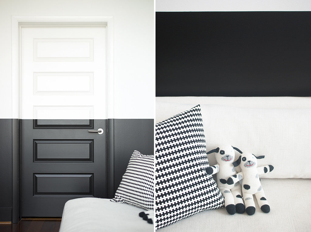 á la maison: black and white baby room