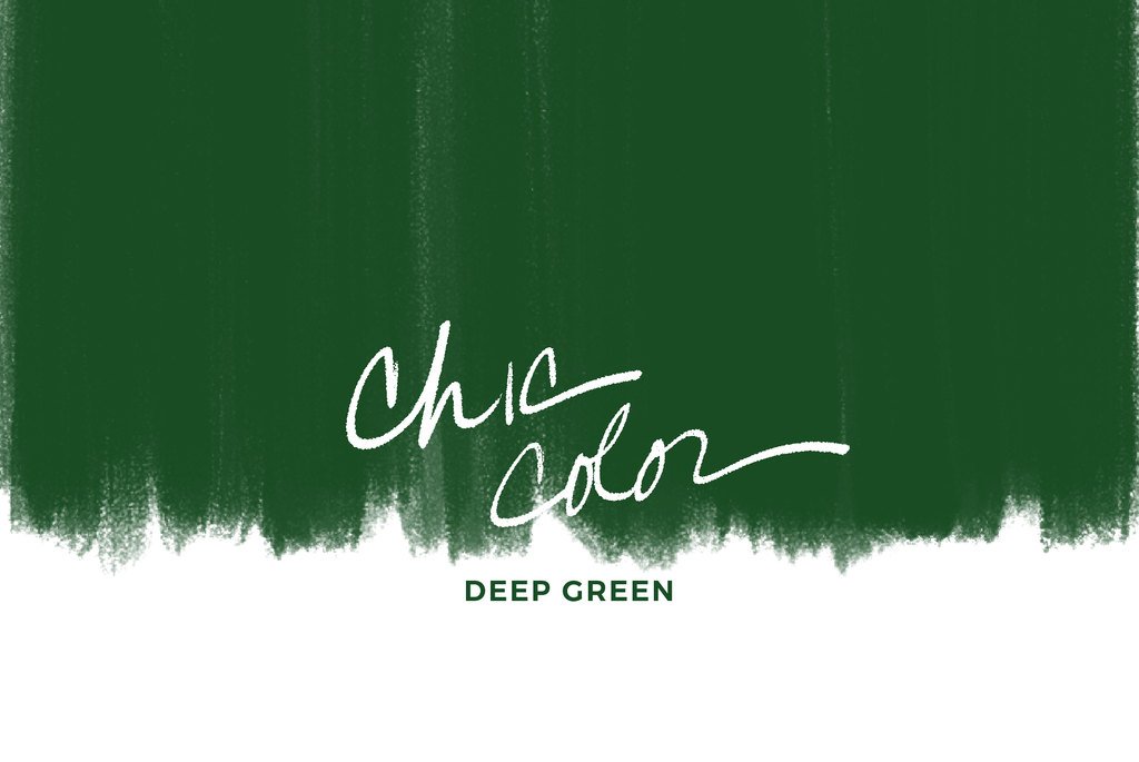 chic color: deep green