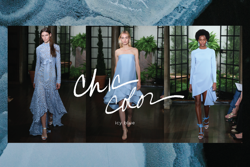 chic color: icy blue