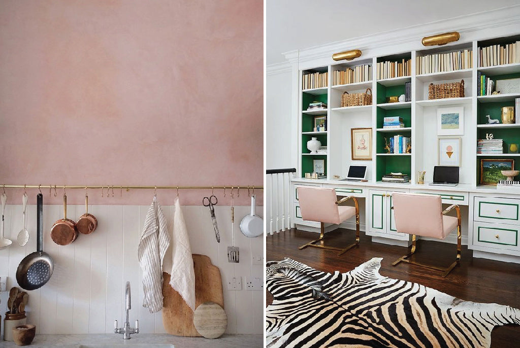 blush pink in home decor