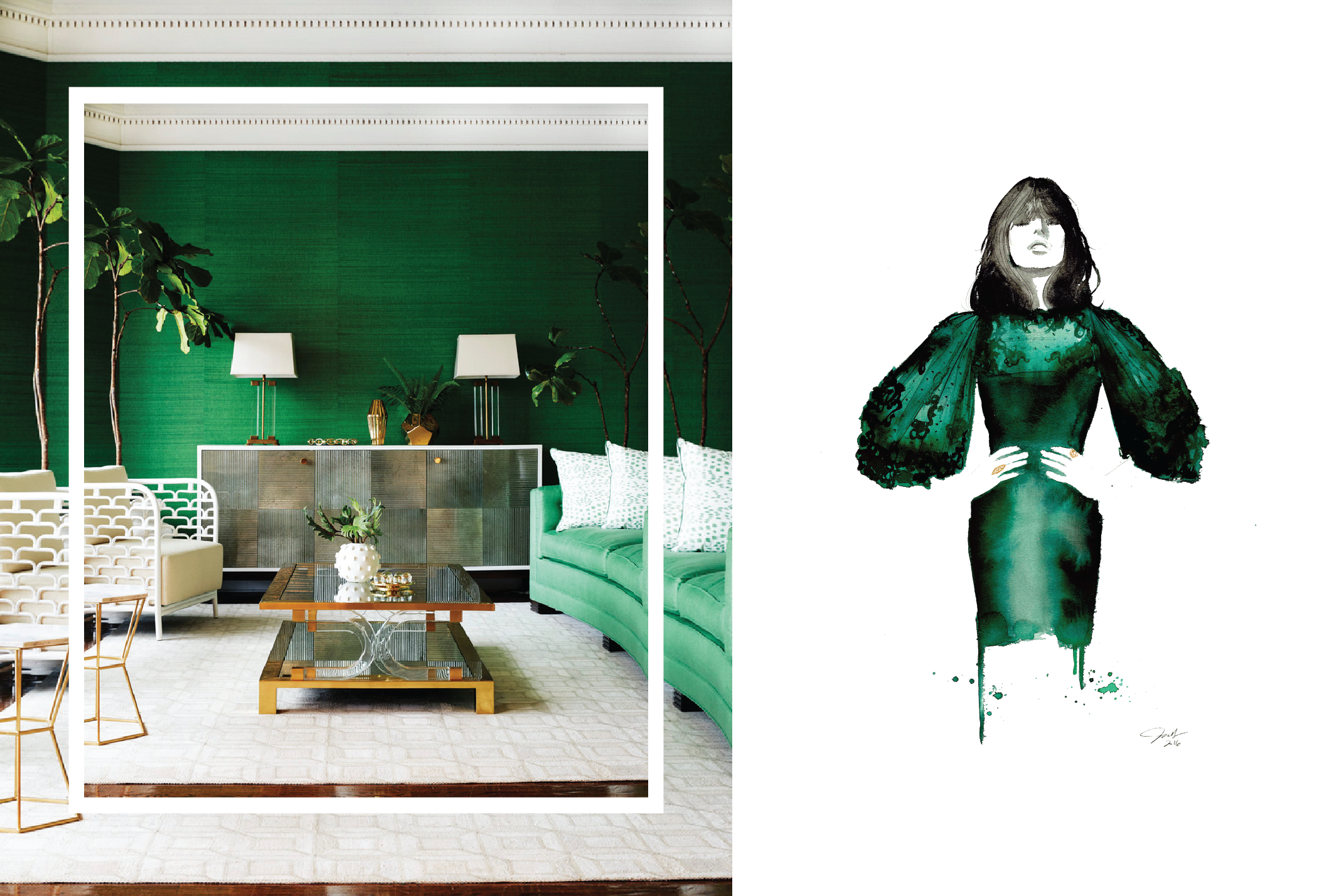 green is the chicest color of the season