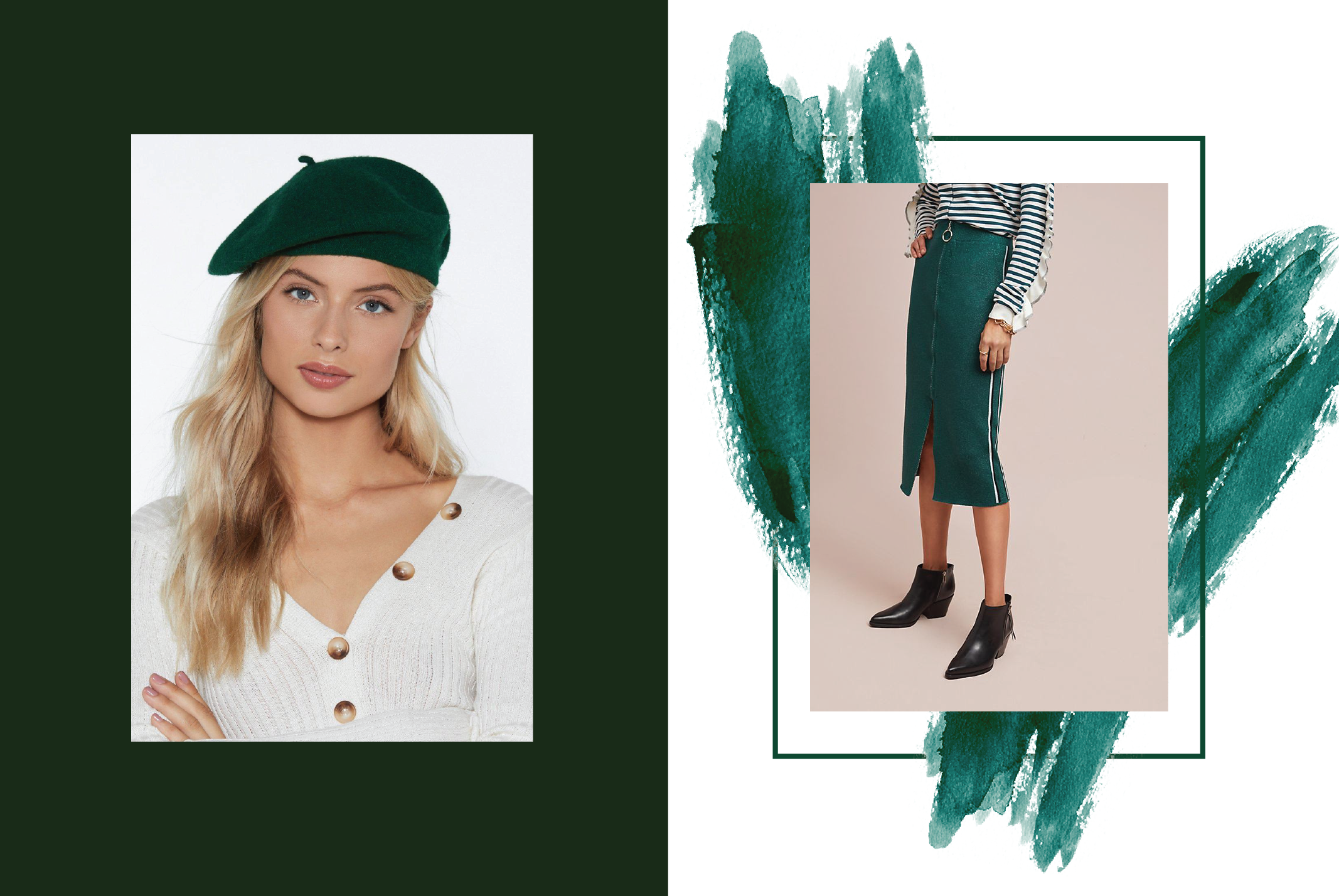 Green is popping up in fashion accessories