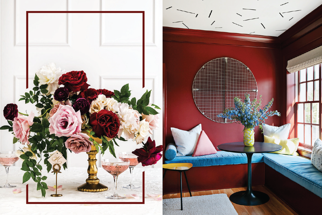 These aren't your grandmother's burgundy walls