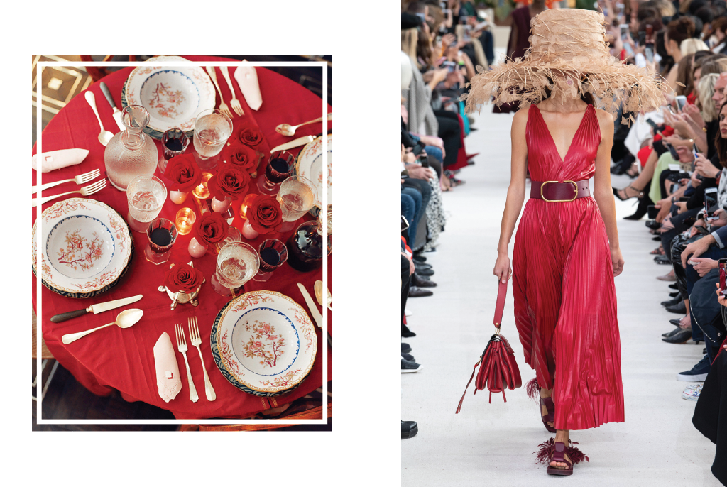 Crimson from runway to your dining table