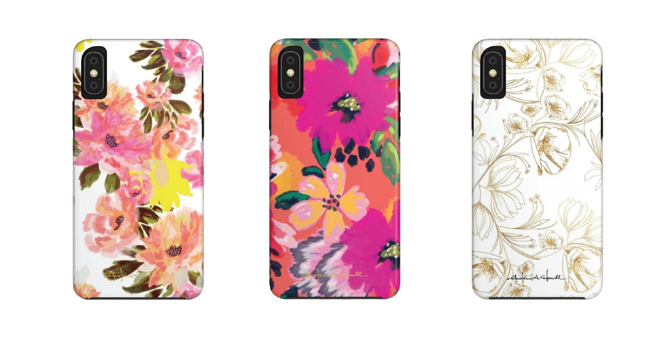 pretty protective tech cases, floral iphone case, floral galaxy case