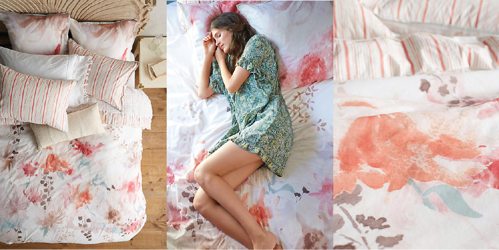 anthropologie floral duvet