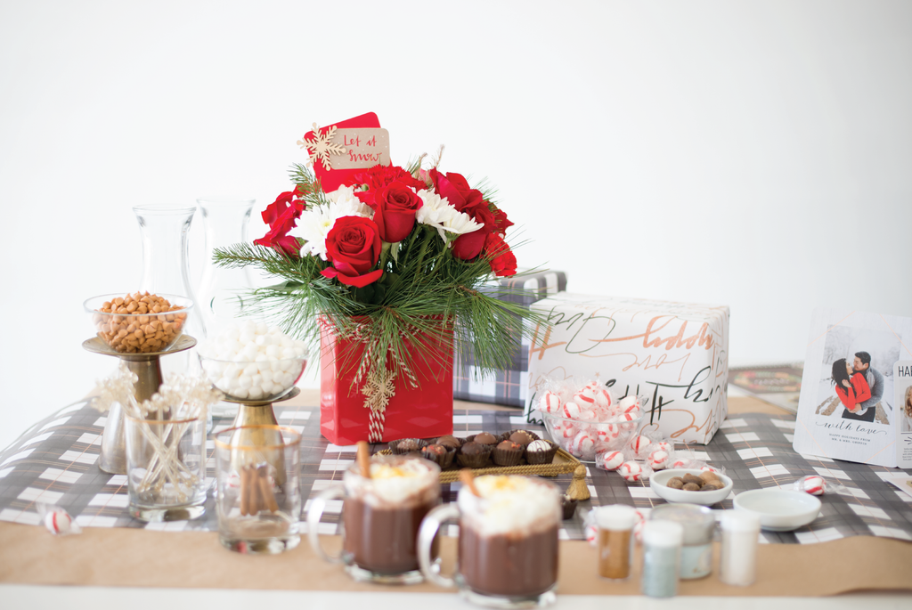 hot chocolate bar holiday party idea