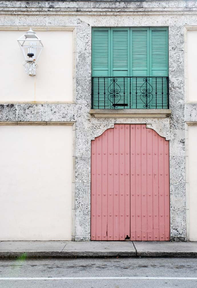 mint and pink doors miami