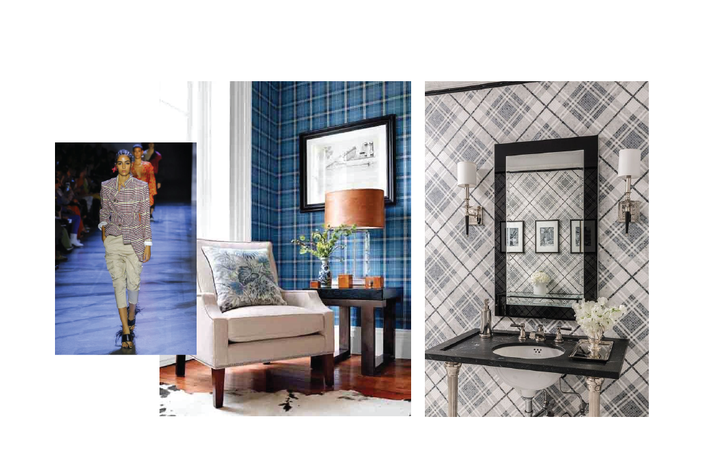 plaid wallpaper inspiration