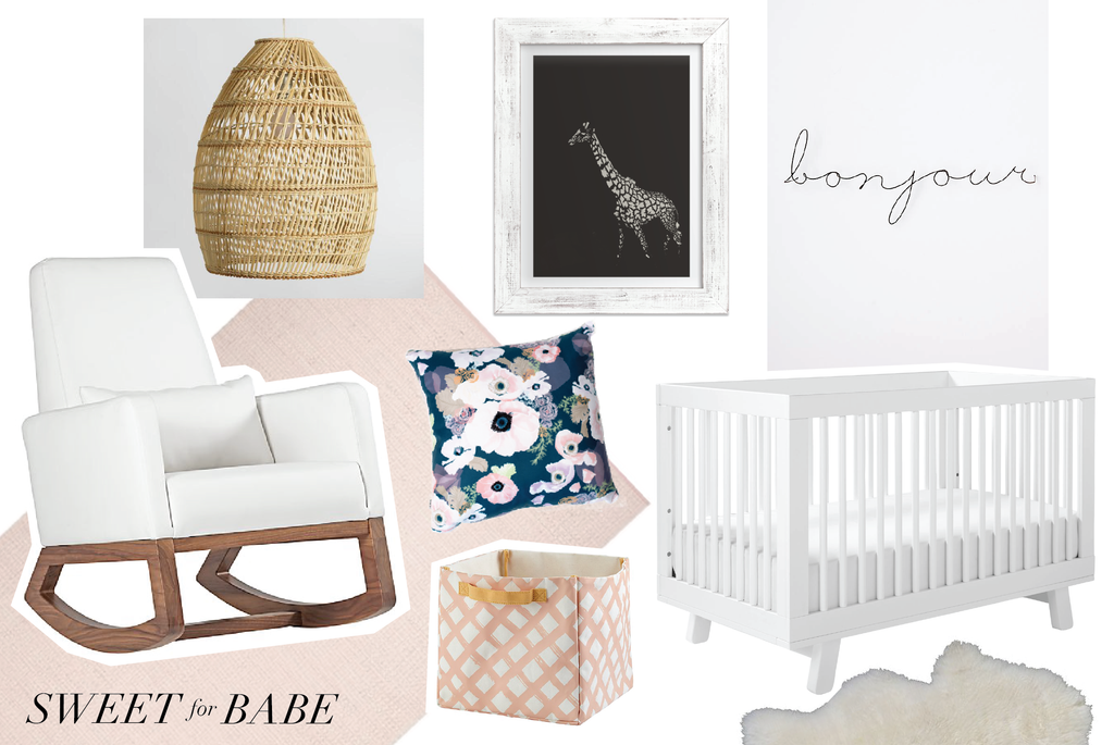 baby nursery inspiration with florals