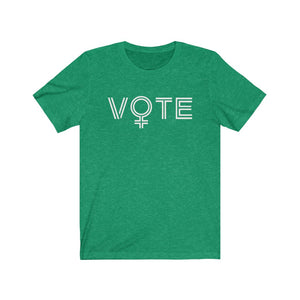 VOTE tee in kelly green
