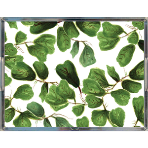 Fig Life Acrylic Tray | Khristian A. Howell decorative tray for living room, unique art acrylic tray, serving tray with art insert