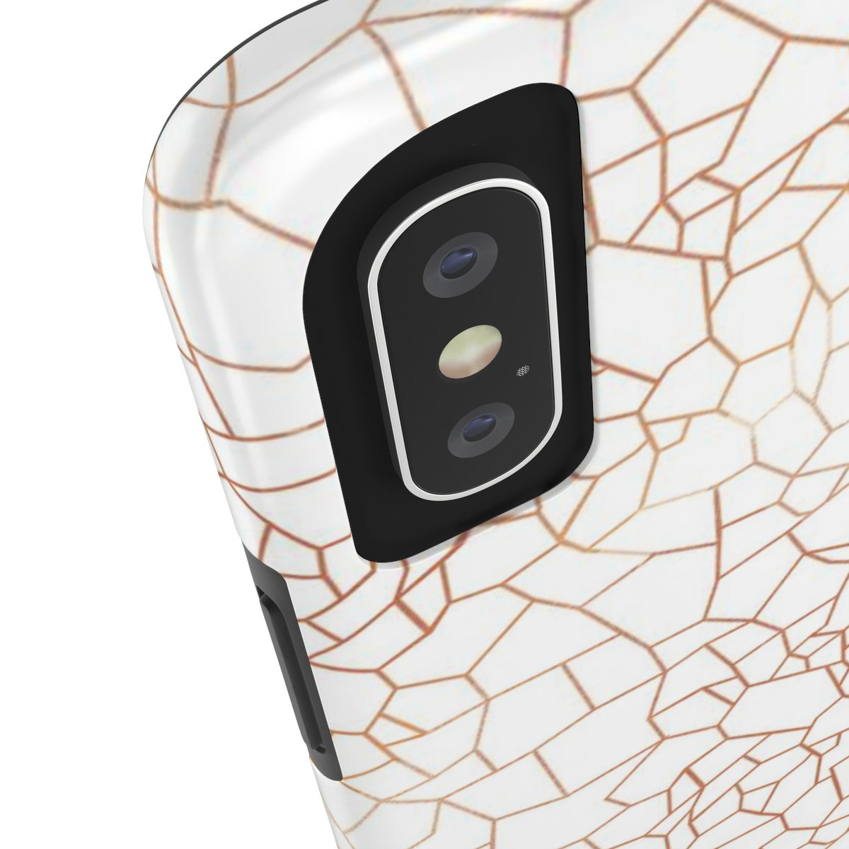 Mosaic White Added Amour Phone Case