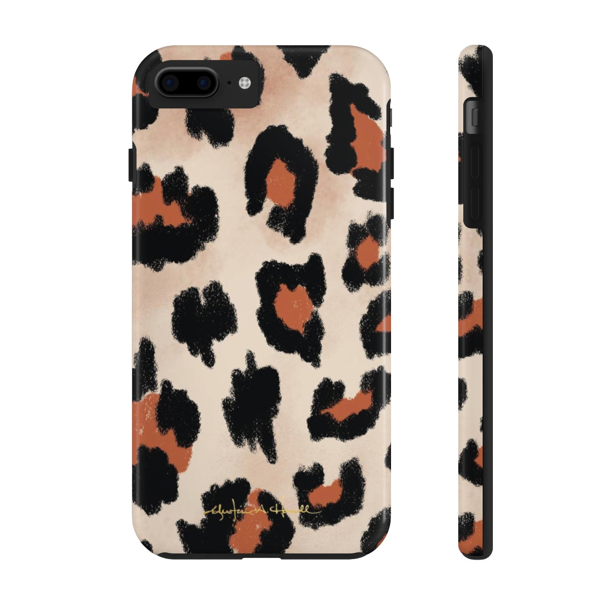 Leopard Added Amour Phone Case