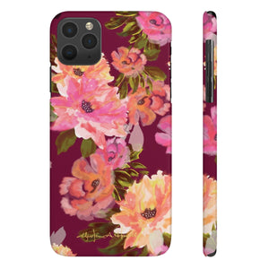 Analucia Merlot Sleek and Chic Phone Case