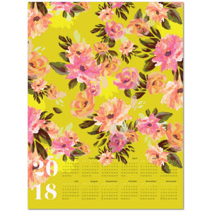 Analucia 2018 Large Canvas Calendar | Khristian A. Howell modern home decor online, original pattern designs, exclusive home decor designs