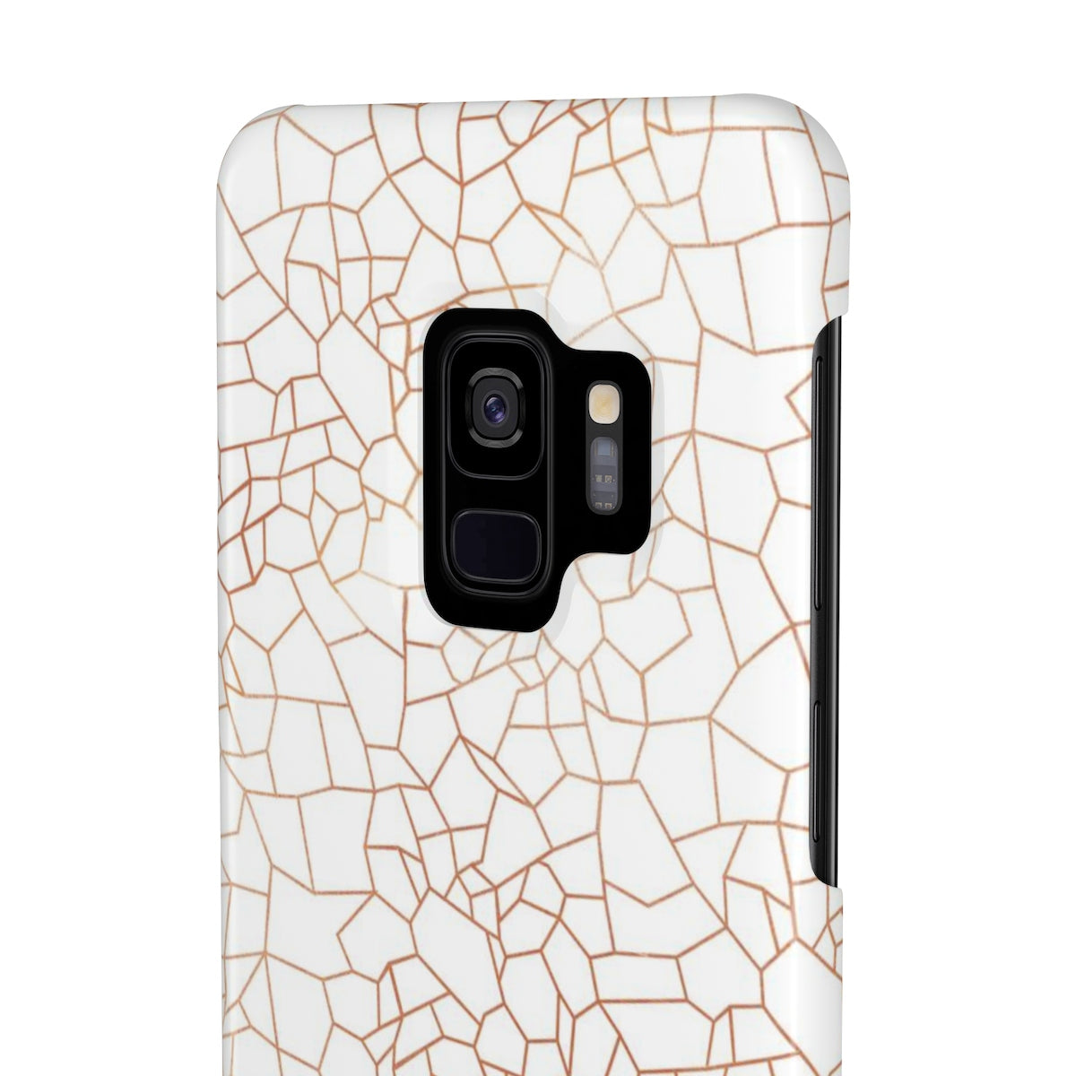 Mosaic White Sleek and Chic Phone Case