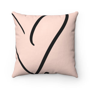 Open Heart Throw Pillow
