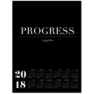 Progress Over Perfection 2018 Large Canvas Calendar