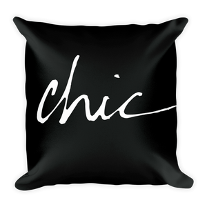 FCL Chic Throw Pillow (with or without insert) | Khristian A. Howell living room chic throw pillow, boho chic home decor, modern boho decor, throw pillows for contemporary decor