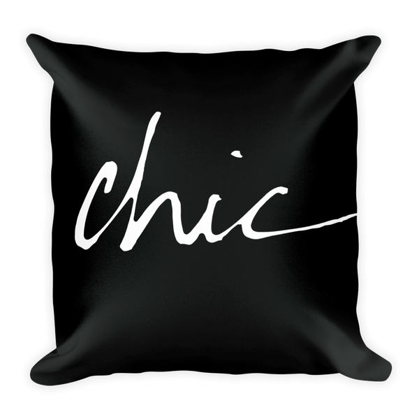 FCL Chic Throw Pillow (with or without insert)