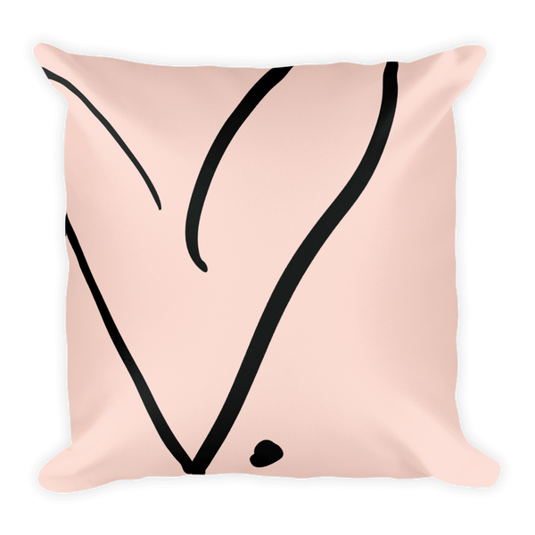 FCL Open Heart Throw Pillow (with or without insert)