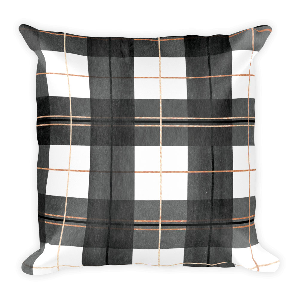 Buffalo Plaid Throw Pillow (with or without insert)