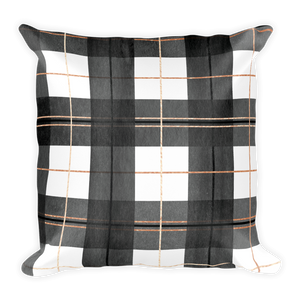 Buffalo Plaid Throw Pillow (with or without insert) | Khristian A. Howell living room chic throw pillow, boho chic home decor, modern boho decor, throw pillows for contemporary decor