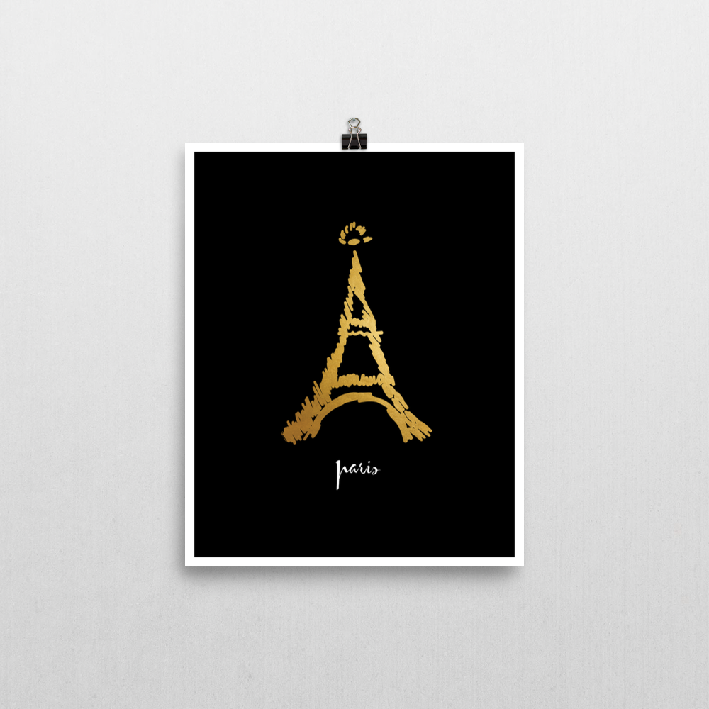 City Love Paris Art Print | Khristian A. Howell exclusive wall art prints, unique design art prints, boho chic bedroom decor, boho apartment decor