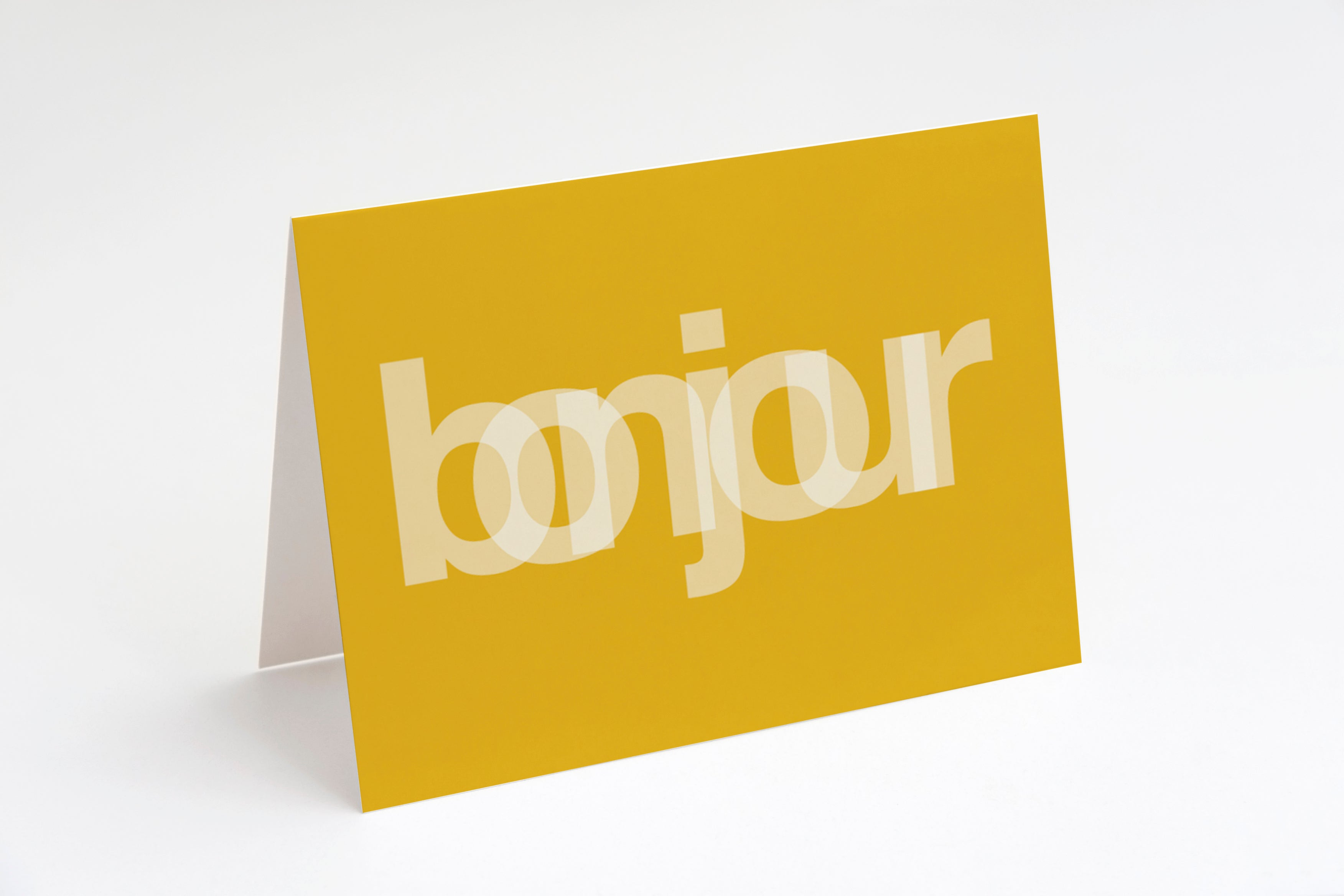 Graphic card set - Bonjour - stationery set - Khristian A. Howell