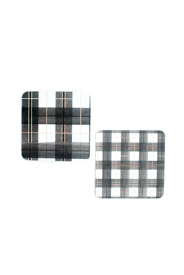 Buffalo Plaid Coaster Set